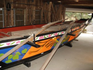 勢子船の復元模型