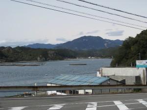 森浦蛭子神社からみた森浦の風景