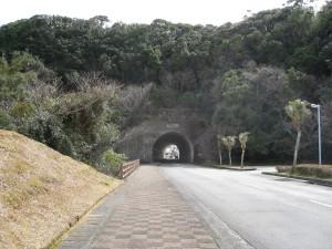 畠尻湾前の道。